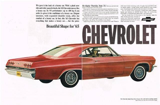 1965 Impala Ad Automobile Advertising Car Advertising Chevrolet