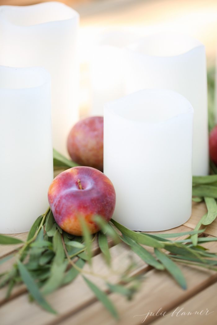effortless fall centerpiece - perfect for entertaining