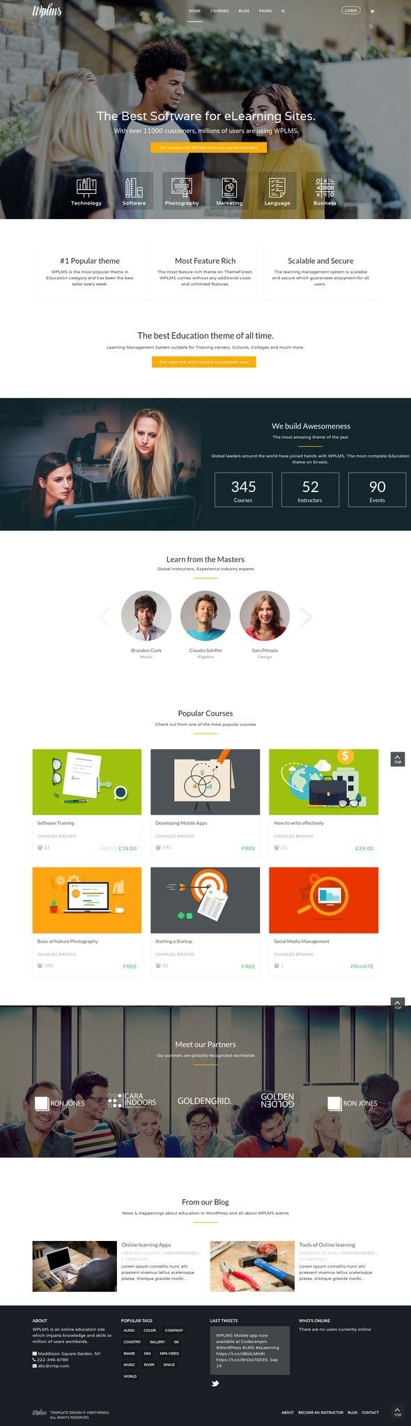 Wplms Learning Management System For Wordpress Education Theme Buddypress Classes Course Management Courses E Learning Education Forums Learning Managem Com Imagens