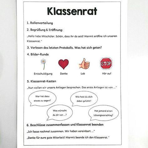 Klassenrat | grundschule | Pinterest | Classroom ...