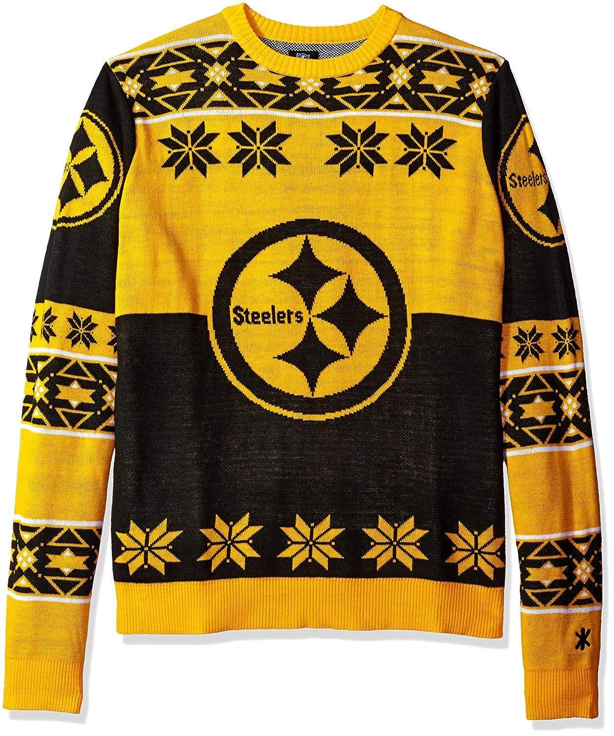 eb7b74264 Forever Collectibles NFL Unisex Pittsburgh Steelers Big Logo Ugly Sweater   NFL  Sweater  Sports