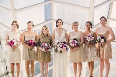 Gold + Sparkly Kimmel Center Wedding