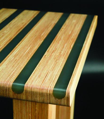 Epoxy Driftwood Table: Lynchwood Multi Tanstripe Resin & Birch Ply Table