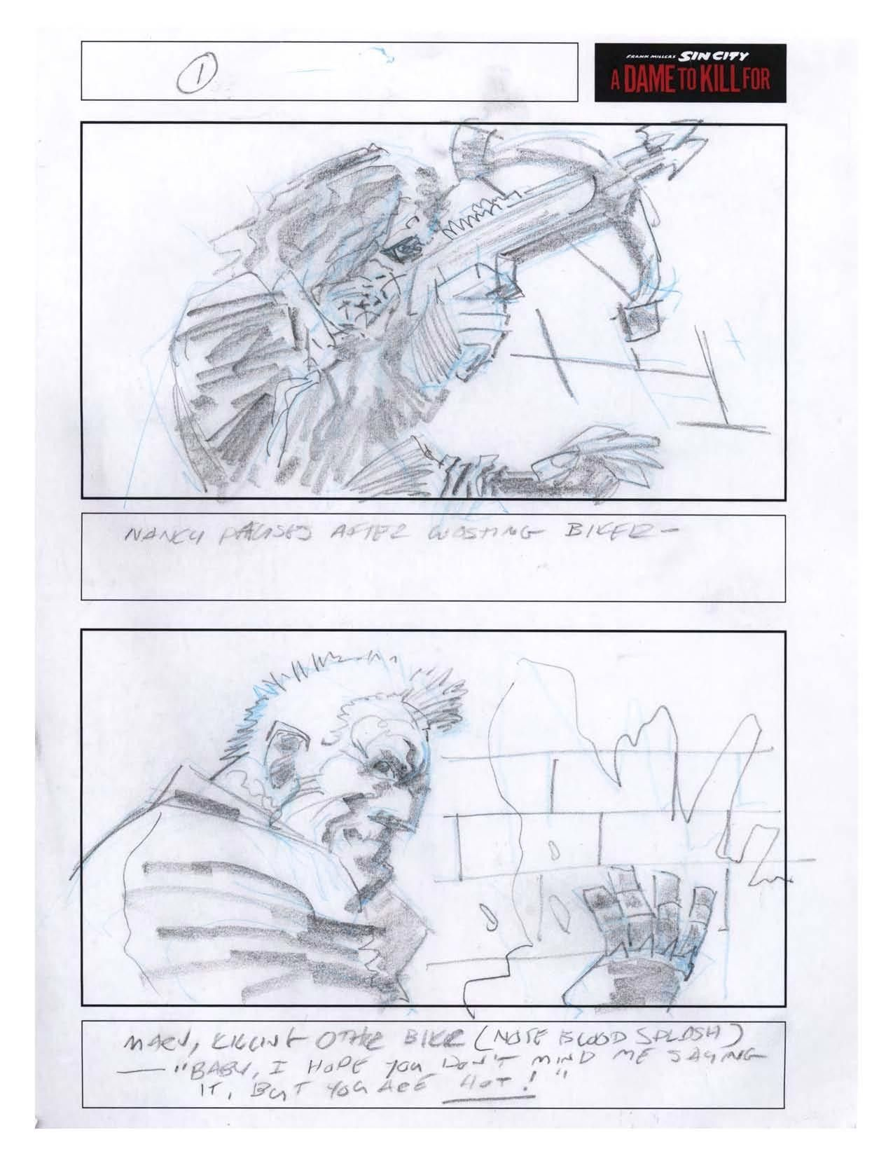 See Frank MillerS Original Storyboards For Sin City   Sin