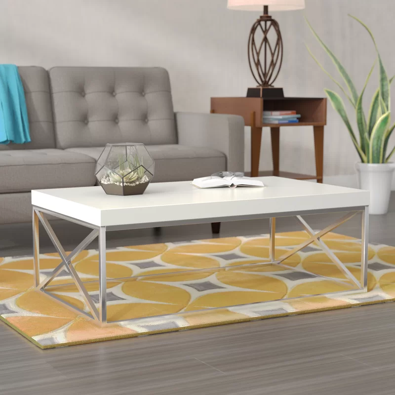 Zipcode Design Eton Coffee Table Base Color White Coffee Table With Storage Table Furniture