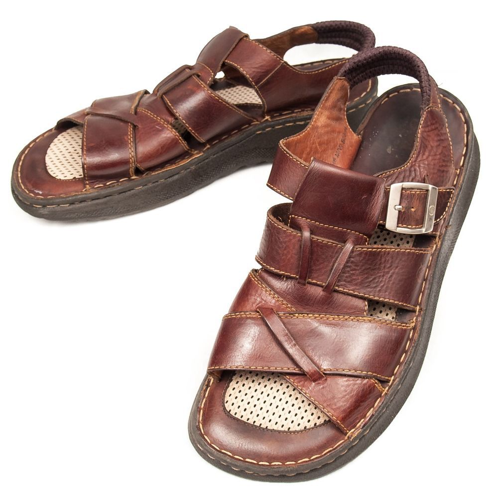 41fec2806a42 Born Fisherman Sandals 12 M Mens Woven Leather Buckle Shoes Brown  Handcrafted  Born  Fisherman  Sandals  MensShoes  SomeLikeItUsed