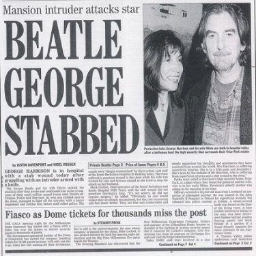 The Mad Music Asylum | The beatles, Newspaper headlines, George