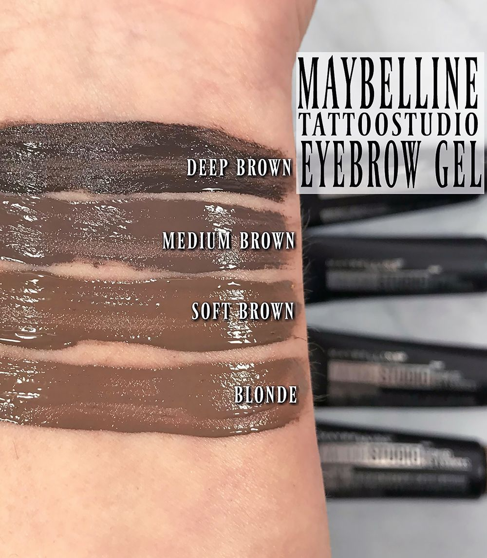 How to wear maybelline tattoostudio waterproof eyebrow