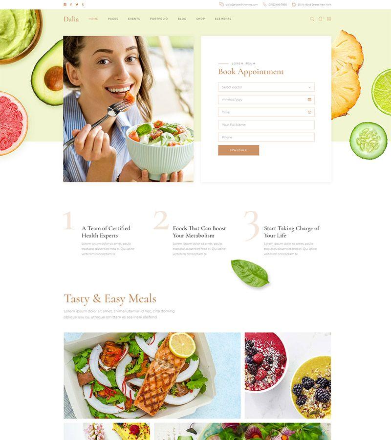 Dalia - A #Modern #Wellness and #Lifestyle #Theme | Website