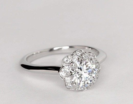This blooming statement piece that is anything but subtle. | 31 Engagement Ring Ideas For Anyone Considering A Holiday Proposal