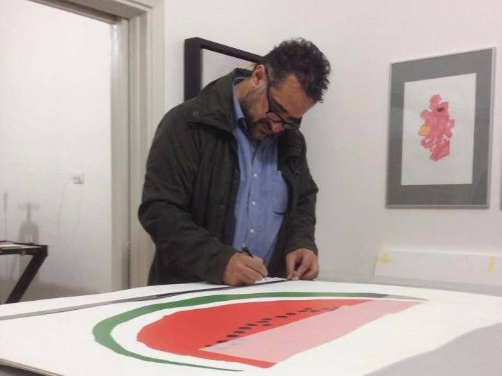 Artist Khaled Hourani first used the watermelon in his work for the Atlas of Palestine Project in 2007. Khaled Hourani