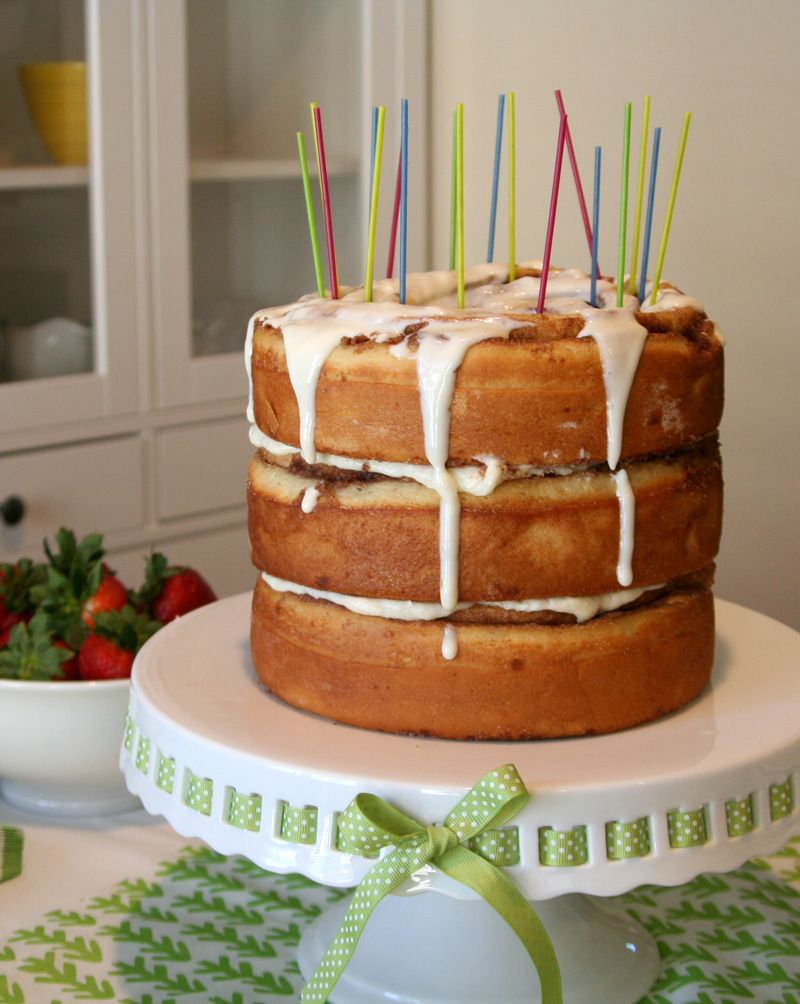 Cinnamon Roll Breakfast Birthday Cake Why Wait All The Way Until
