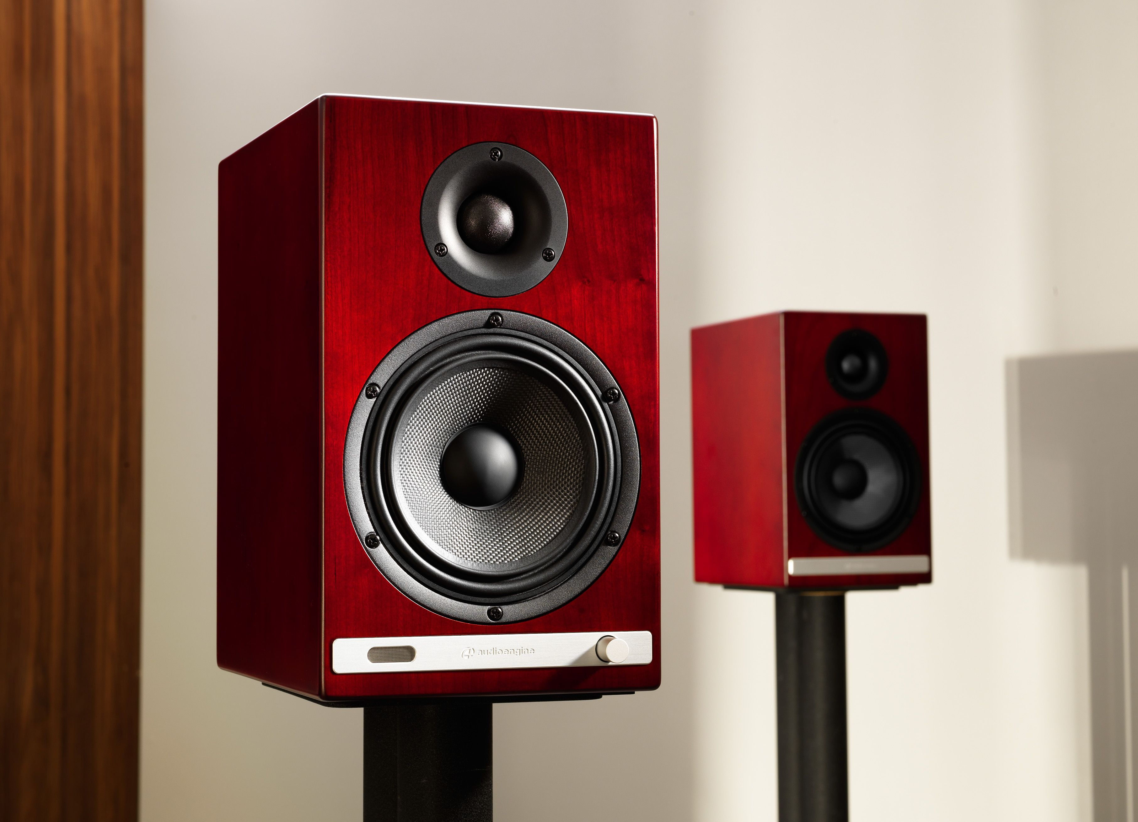 audioengine hd6 powered speakers, cherry finish | loudspeaker design