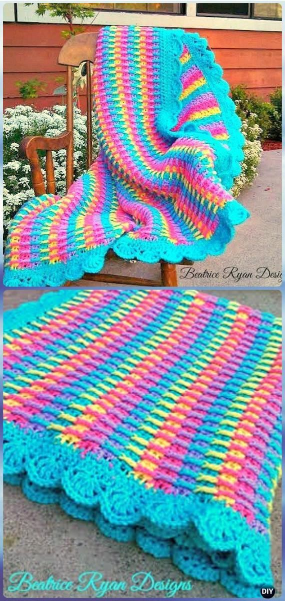 Crochet Rainbow Blanket Free Patterns Crochet And Knitting