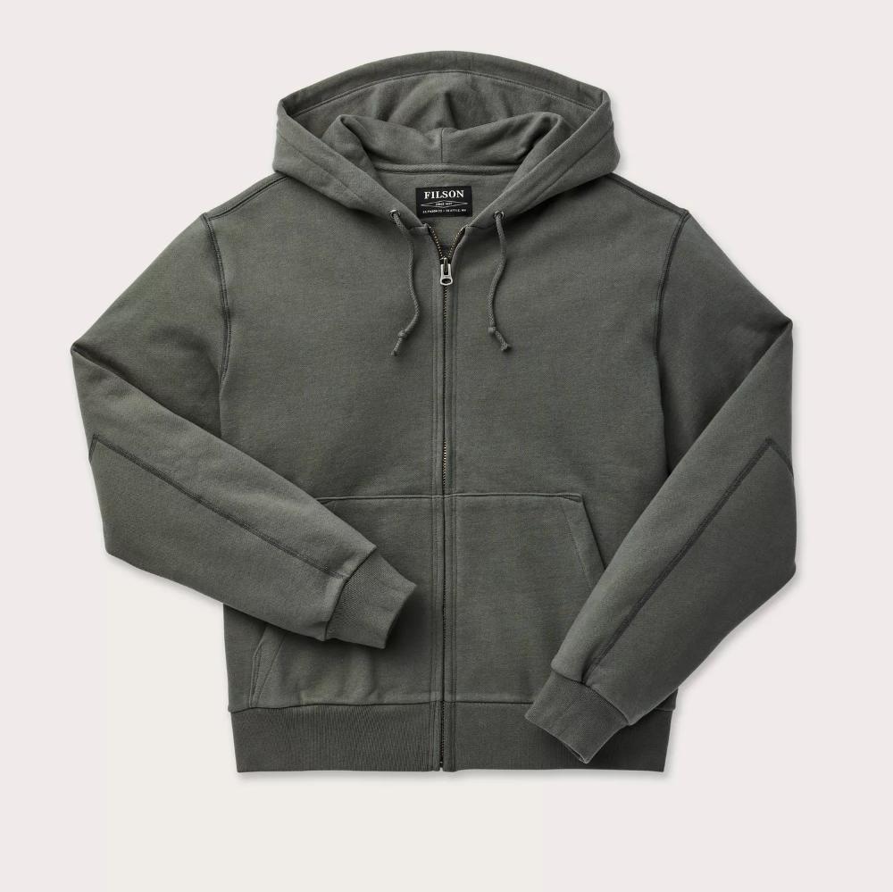 Heavyweight 15 Oz Fleece Zip Up Hoodie Filson Hoodies Zip Ups Sweatshirt Fleece [ 999 x 1000 Pixel ]