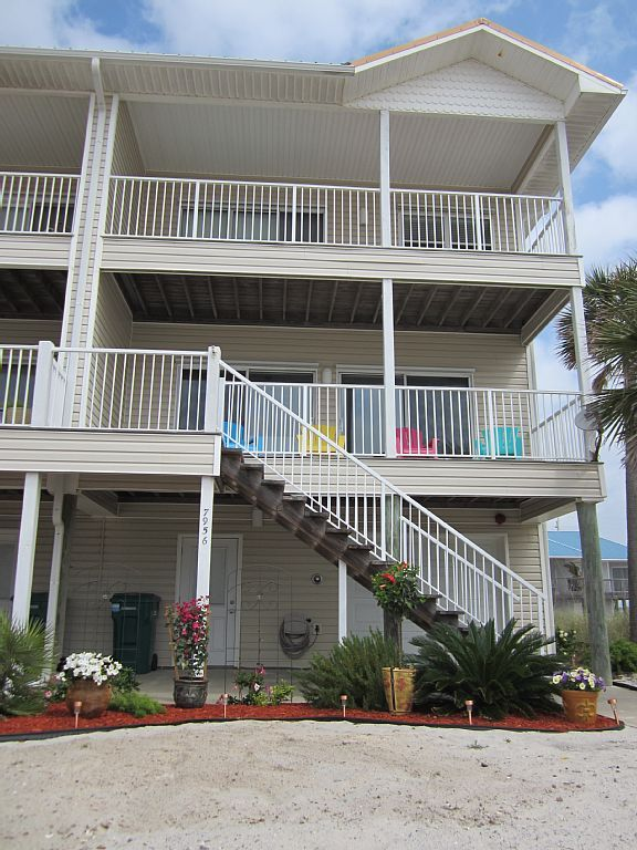 The front of Cajun Casa....end unit - Navarre Beach townhome rental   Easy  vacation, Florida rentals, Navarre beach