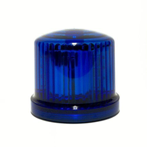 Fortune PL-300BJ Battery Powered Ultra Bright LED Standard Police Beacon Blue 5 Diameter x 5 Height