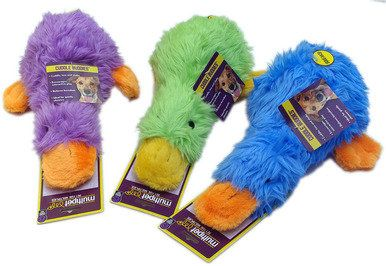 Info's : Multipet Duckworth Webster Fluffy Squeaks Interactive Dog Toy Assorted 13inch