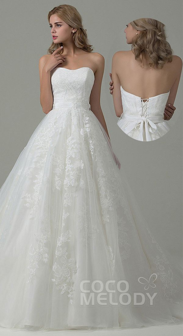 $352, A line corset back #weddingdress. #cocomelody