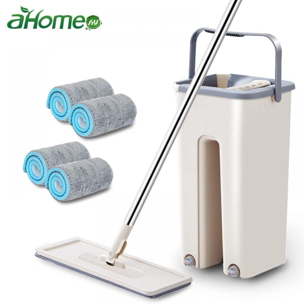 Magic Quickly Cleaning Mops With Bucket Floors Squeeze Flat Mop Home Kitchen Floor Cleaner House Cleaning Tools In 2020 Cleaning Mops Clean Kitchen Floor Floor Cleaner