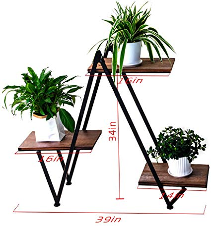Amazonsmile Y M 3 Tier Metal Plant Stand Flower Pots Stander Display Pots Holder For Indoor Outdoor Us In 2020 House Plants Decor Plant Stand Decor Metal Plant Stand