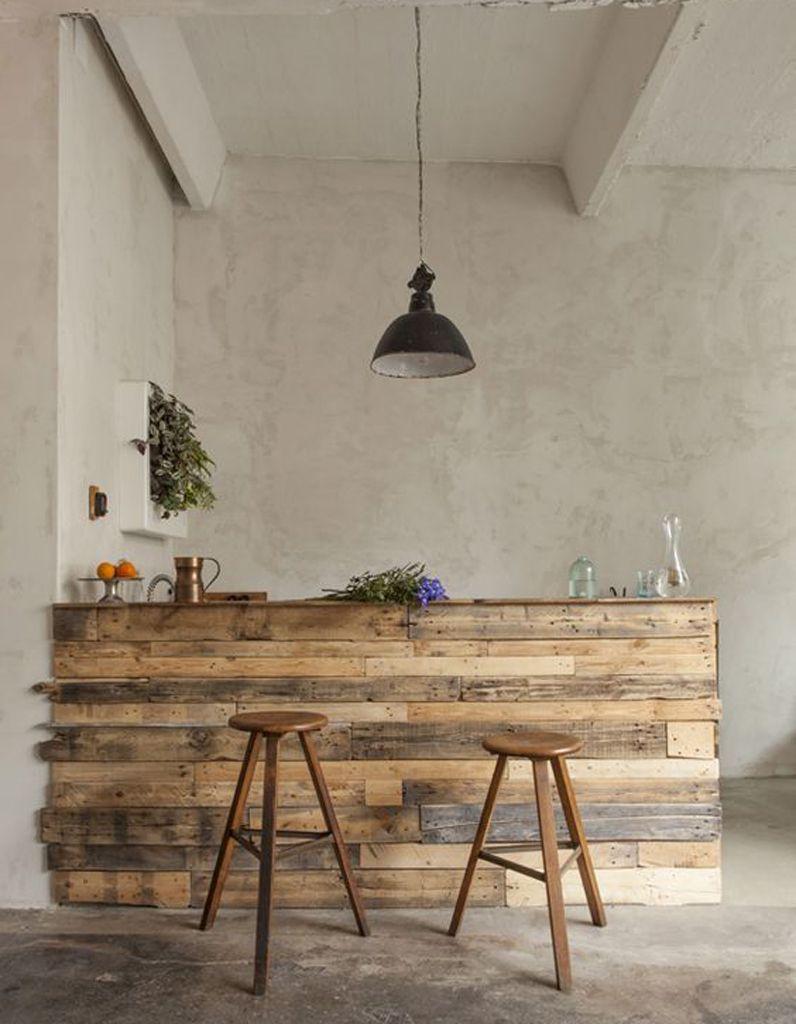 La palette en bois dans tous ses états | Palettes | Mobilier de salon, Meuble bar cuisine et Bar ...