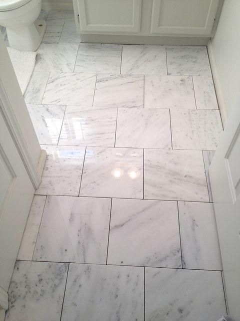 Bryn Alexandra Our Home Marble Tile Bathroom Floor Marble Tile Bathroom Patterned Bathroom Tiles