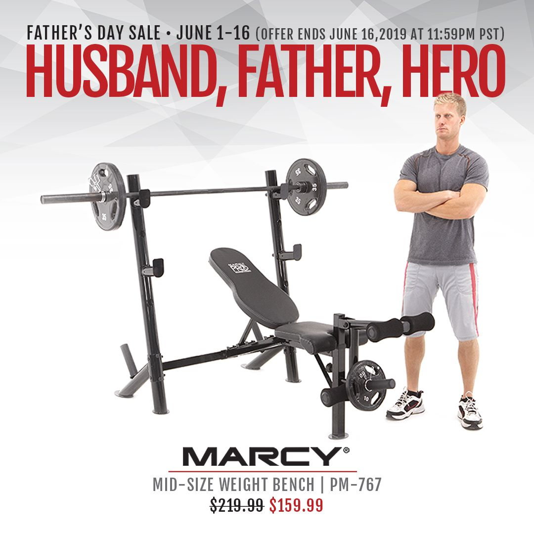 Marcy Pro Mid Size Bench Pm 767 At Home Gym Strength