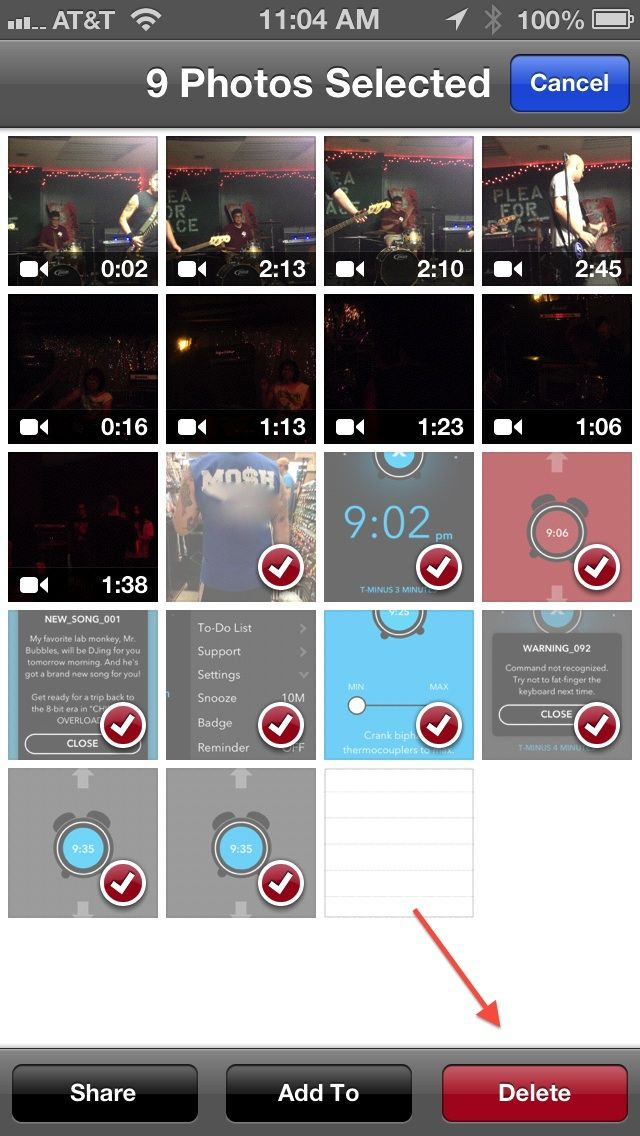 How to save storage space by removing photos from your