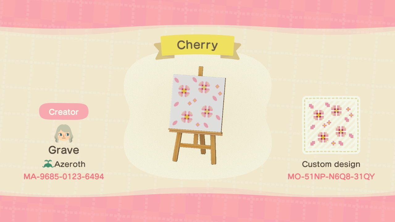 Acnh Cherry Blossom Acnh Custom Designs Animal Crossing New Animal Crossing Animal Crossing Qr
