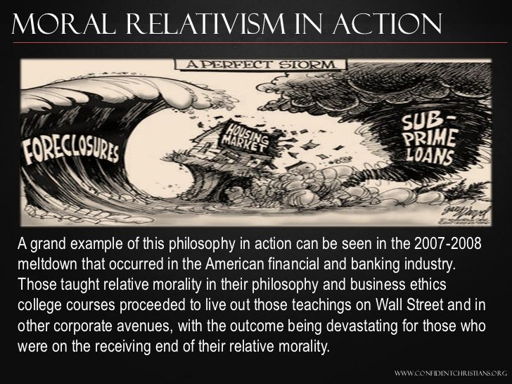 Moral Relativism In ActionA grand example of this ...