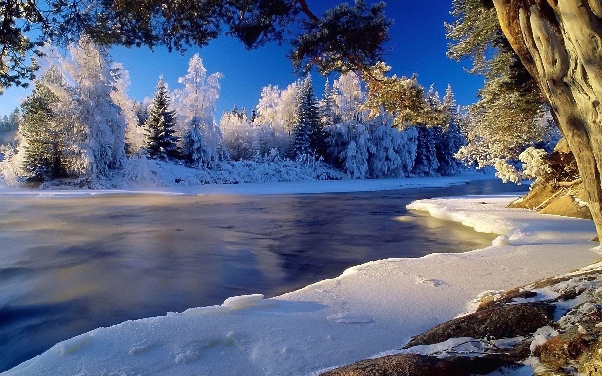 Fond Cran Gratuit Landscape Wallpaper Winter Landscape Nature