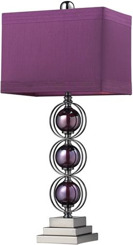27 Inchh Alva Table Lamp Purple Black Nickle In 2019 Lilac