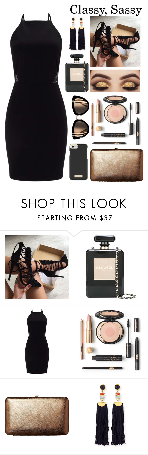 """""""Untitled #144"""" by vtoribio2002 ❤ liked on Polyvore featuring Chanel, Miss Selfridge, TravelSmith, Lizzie Fortunato and Kate Spade"""