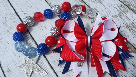 Chunky Bead Big Beads DIY Star spangled Necklace by BigBubbleBeads, $18.00
