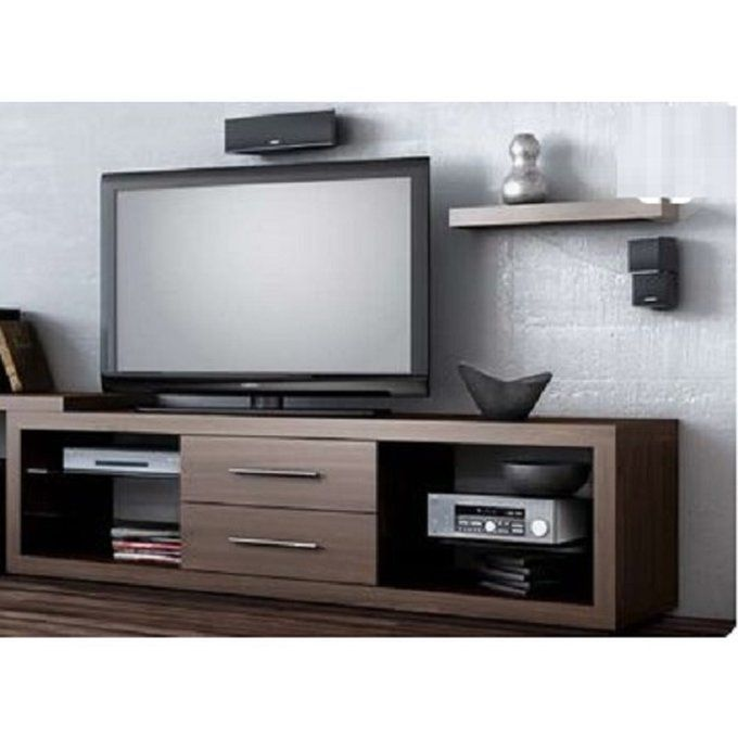 Awe Inspiring Universal Tv Stand With Center Drawers Brown Delivery Pabps2019 Chair Design Images Pabps2019Com