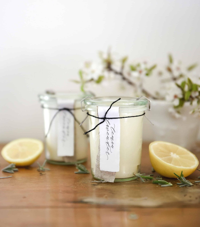 Homemade Candles with Essential Oils DIY Lemon Lavender