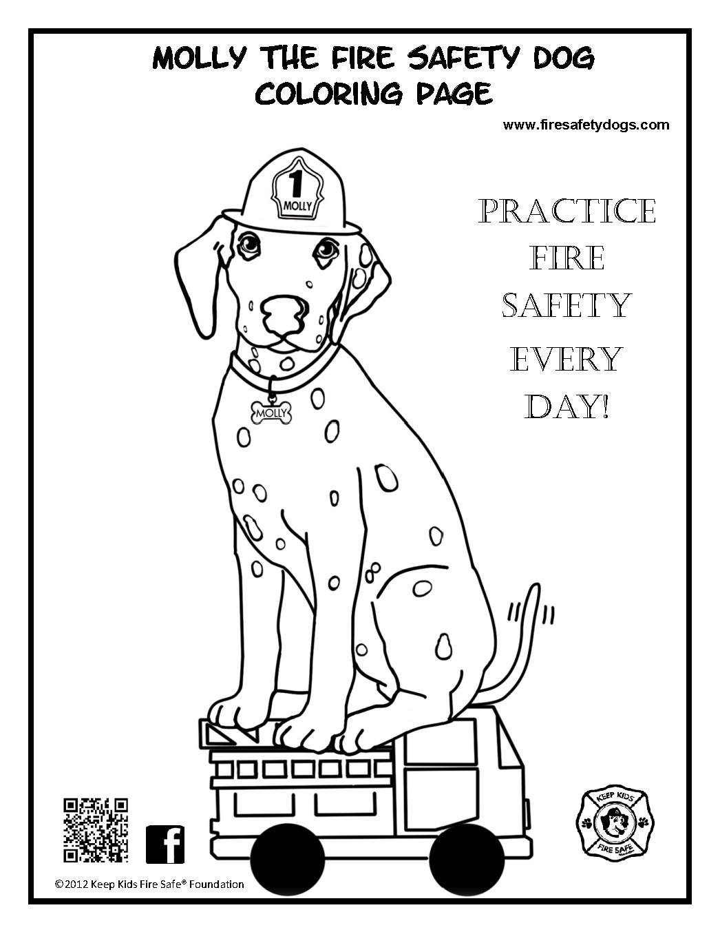 Coloring Pages Fire Dog Coloring Page 1000 images about fire safety preschool on pinterest free printable maze and coloring pages
