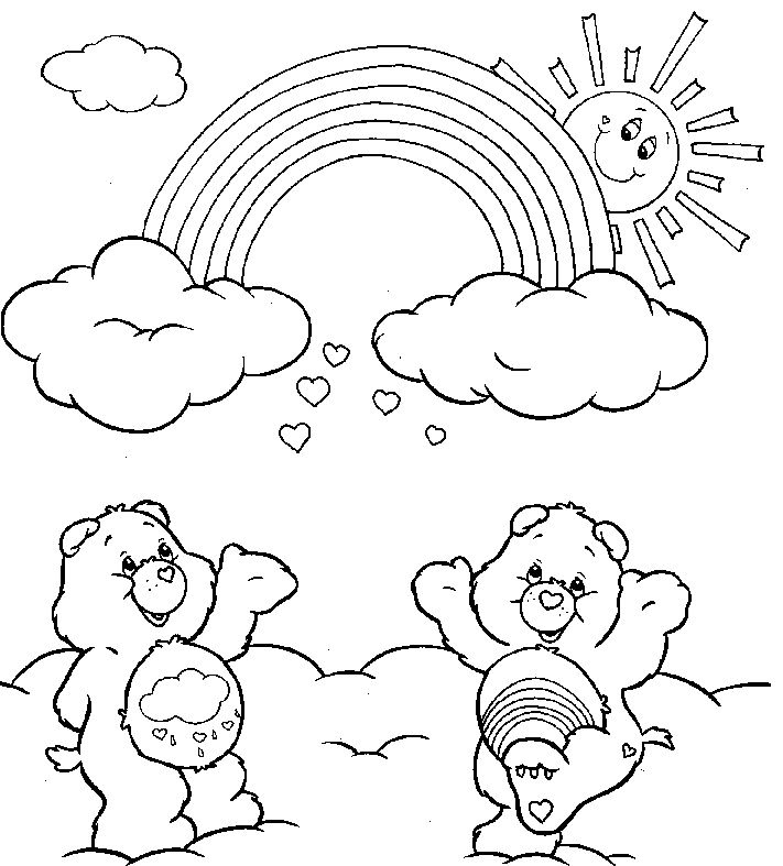 Coloring Pages Of Rainbows Bear Coloring Pages Free Coloring Pages Coloring Pages