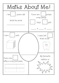 maths about me kindergarten prep number sense aus and usa spelling education math about. Black Bedroom Furniture Sets. Home Design Ideas