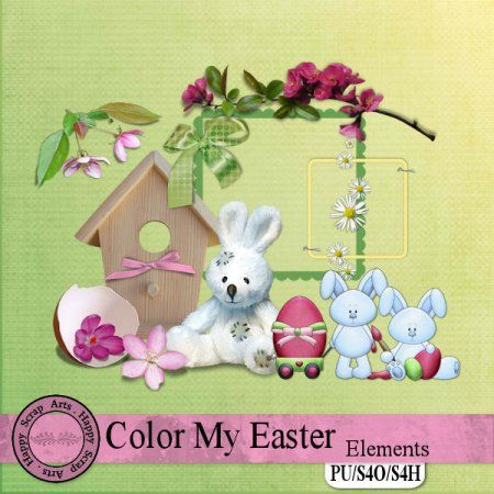 Color My Easter Elements