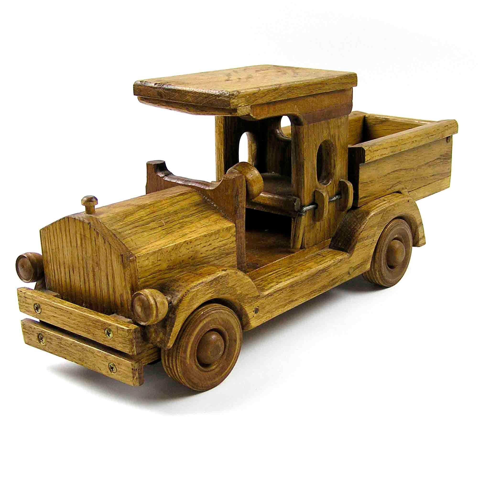 Vintage Wood Truck Handmade Wood Dump Truck Etsy Wood