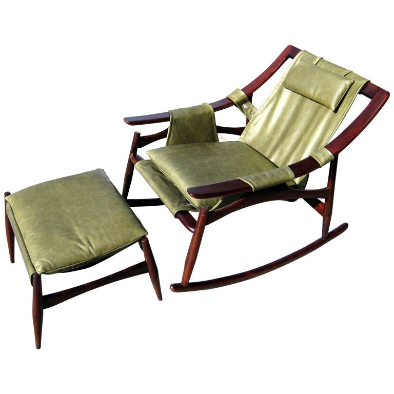 A Fine Brazilian Rosewood Rocking Chair and