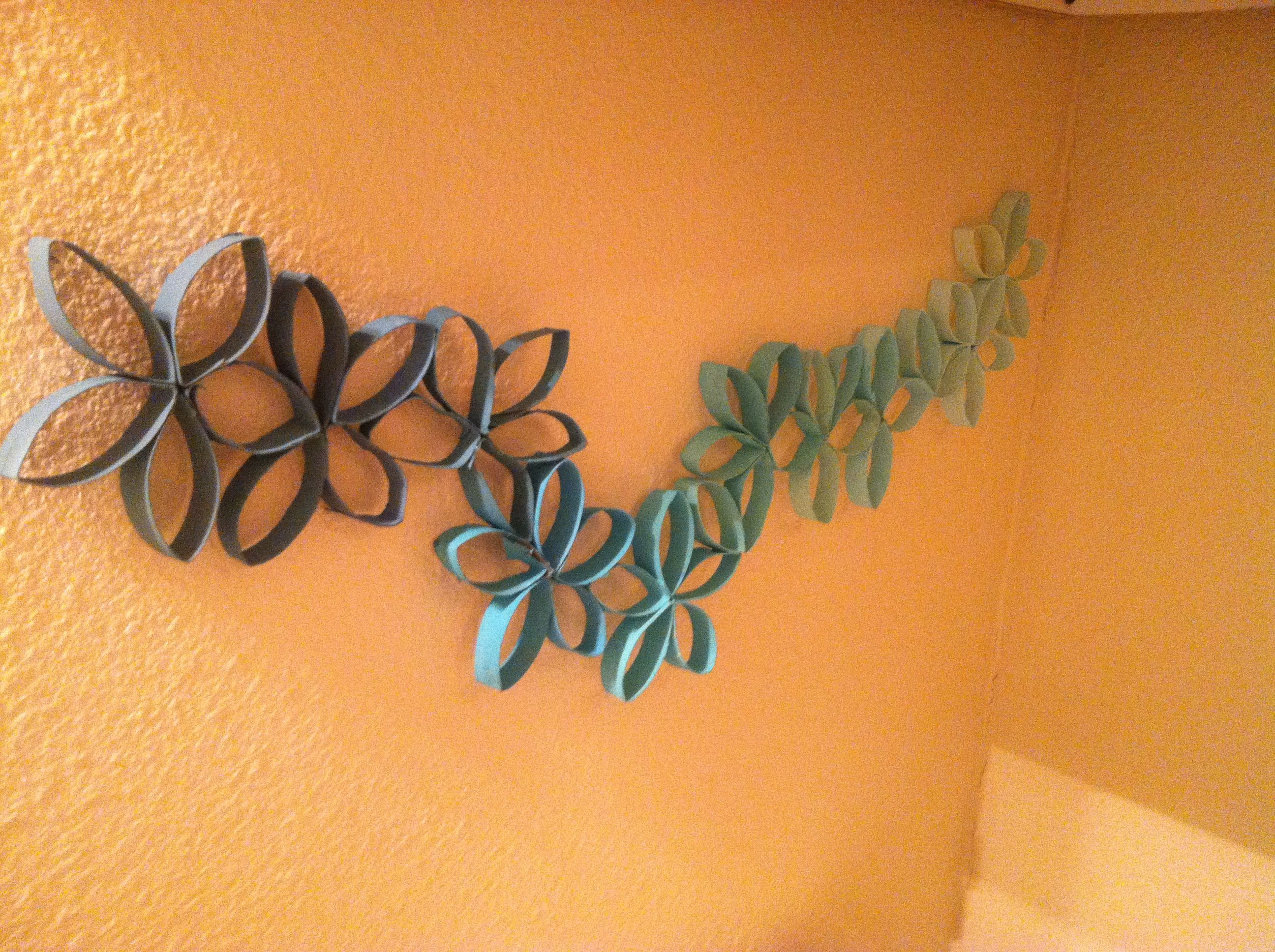 Diy Ombre Toilet Paper Roll Flowers Create Pinterest Diy Ombre