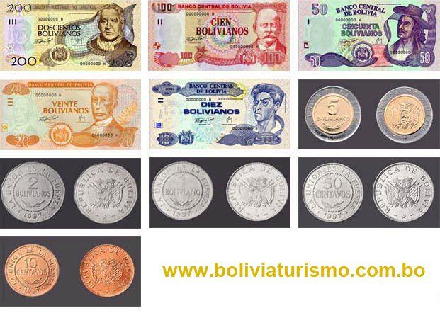 Billetes Y Monedas De Bolivia Bolivianos