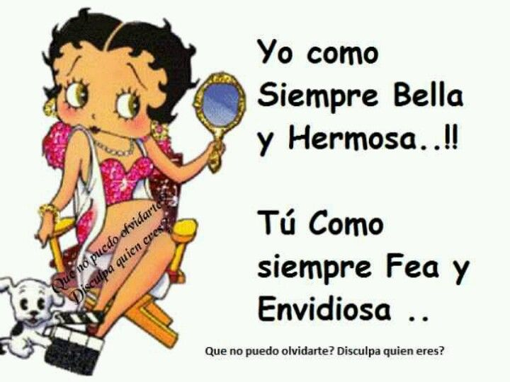 Soy yo :) | Quotes in Spanish | Betty boop, Quotes ...