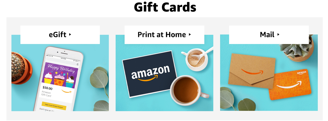 Multiple Ways To Send An Amazon Gift Card To Someone Amazon Gift Cards Amazon Gifts Gift Card Template