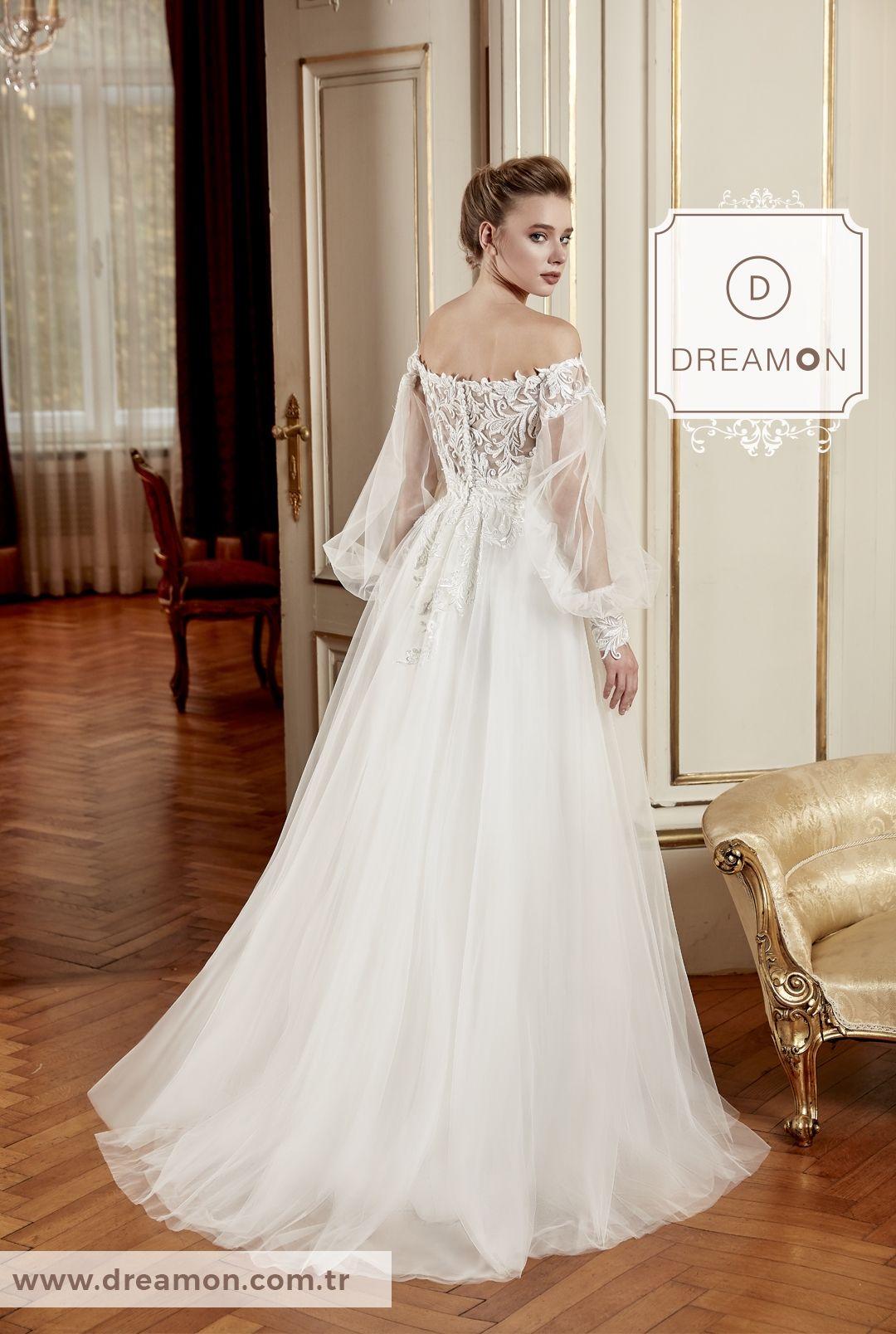 Jacopo Balon Kollu Gogus Dekolteli Helen Gelinlik Modeli Dreamon Com Tr Dantel Gelinlik Gelinlik Cicekli Kiz Elbiseleri