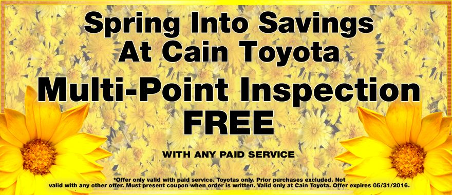 Get a FREE MultiPoint Inspection with any paid service at