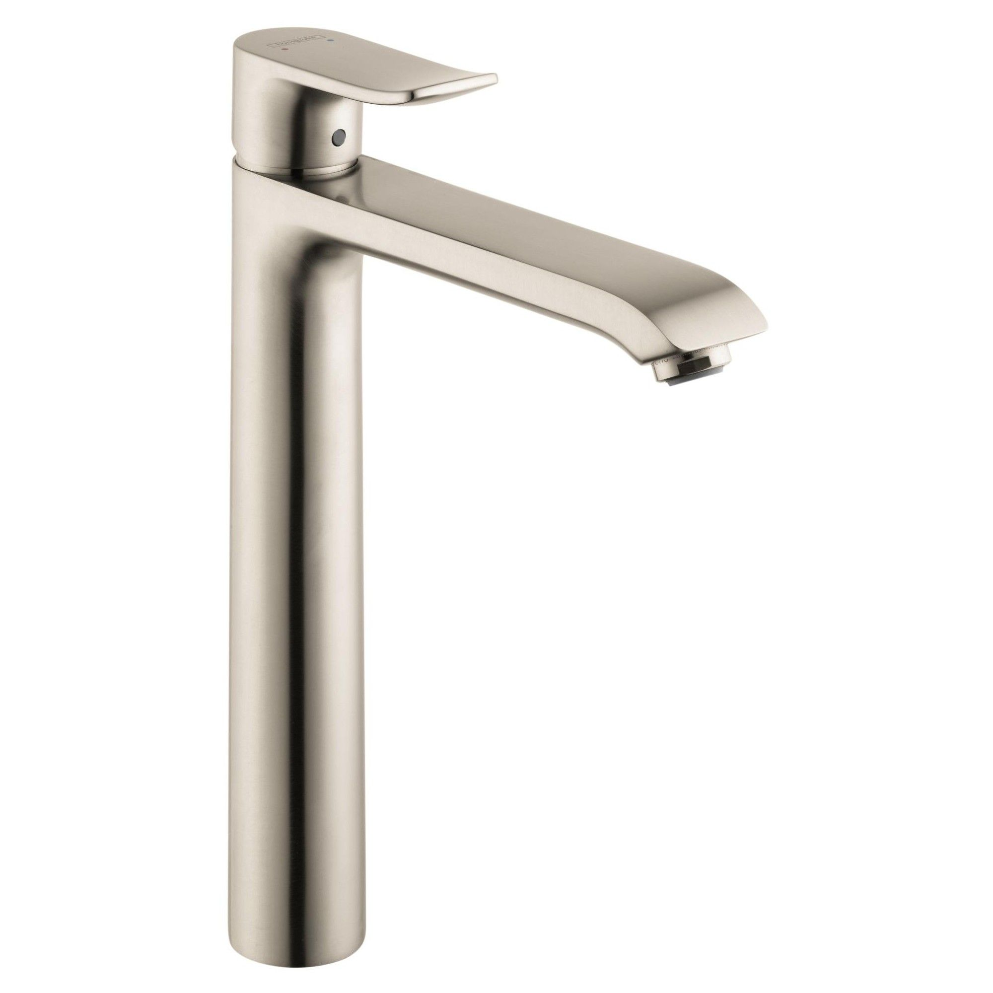 Hansgrohe 31183 Metris 1 2 Gpm Single Hole Bathroom Faucet With Ecoright Brushed Nickel High Arc Bathroom Faucet Bathroom Faucets